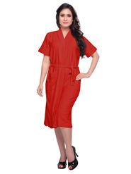 Red Turkish Cotton Bathrobe_DB-BR-RTM-216