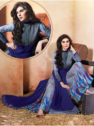 Viva N Diva Embroidered Pure Chanderi Silk Semi Stitched Suit 10019-Elnaaz