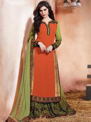 Viva N Diva Embroidered Pure Chanderi Silk Semi Stitched Suit 10023-Elnaaz
