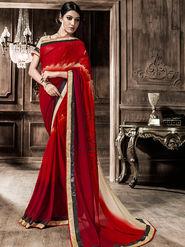 Viva N Diva Georgette  Printed Saree 10118-Tia