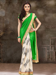 Viva N Diva Printed Bhagalpuri Silk Saree -sa10