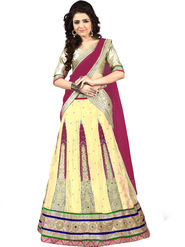 Viva N Diva Embroidered Semi Stitched Net Lehenga -10525-Ami