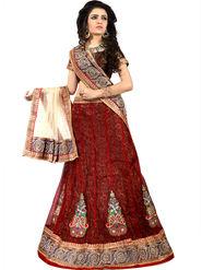 Viva N Diva Embroidered Semi Stitched Net Lehenga -10539-Ami