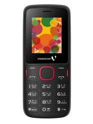 Videocon V1393 Dual Sim Phone - Red