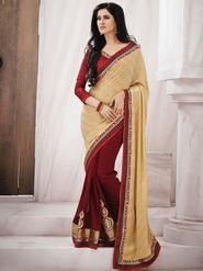 Bahubali Jacquard Embroidered Saree - Light Yellow_GA.50116