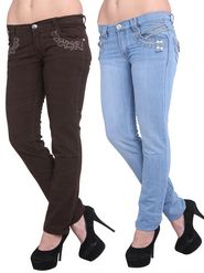 Pack Of 2 Lavennder Denim Solid Jeans_2008-2009