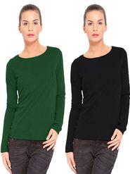 Combo Of 2 Softwear Cotton Solid T-Shirt_SWPLT-996-BGR-BLK