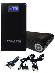 Ambrane Power Bank P-1500 (15600mAh) - Black