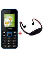 Combo of I Kall K66 1.8 Inch Dual Sim Mobile (Blue) + Neckband for Music