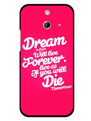 Snooky Designer Print Hard Back Case Cover For HTC One E8 - Rose Pink