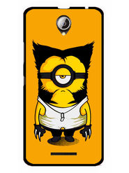 Snooky Designer Print Hard Back Case Cover For Lenovo A5000 - Yellow