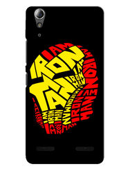 Snooky Designer Print Hard Back Case Cover For Lenovo A6000 - Black