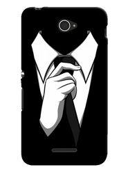 Snooky Designer Print Hard Back Case Cover For Sony Xperia E4 - Black