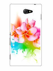 Snooky Designer Print Hard Back Case Cover For Sony Xperia M2 - Multicolour