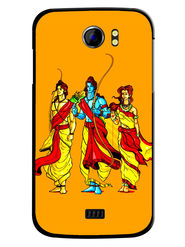 Snooky Designer Print Hard Back Case Cover For Micromax Canvas 2 A110 - Yellow