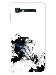 Snooky Designer Print Hard Back Case Cover For Intex Aqua Y2 pro - White