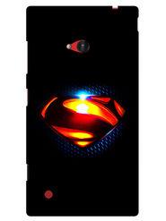 Snooky Designer Print Hard Back Case Cover For Nokia Lumia 720 - Black