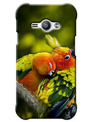 Snooky Digital Print Hard Back Case Cover For Samsung Galaxy J1 Ace - Green