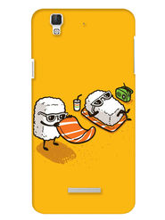 Snooky Digital Print Hard Back Case Cover For Coolpad Dazen F2 - Yellow