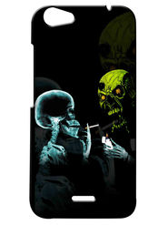 Snooky Digital Print Hard Back Case Cover For Micromax Bolt Q338 - Black