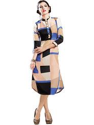 Viva N Diva Printed Georgette Straight Kurtis -14302-Vifaa