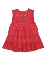 ShopperTree Solid Orange Cotton Frock -ST-1638_6-12M