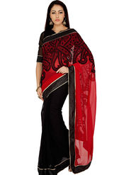 Designersareez Georgette Embroidered Saree -1990