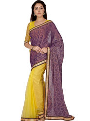 Designersareez Printed Net and Brasso Saree -2010