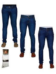 Pack of 3 Denim Cafe Regular Fit Cotton Jeans For Men_12448638