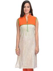 Lavennder Khadi Striped Kurti -623398