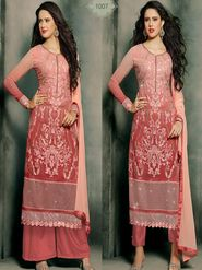 Adah Fashions Embroidered  Georgette Semi-Stitched Suit 805-1007