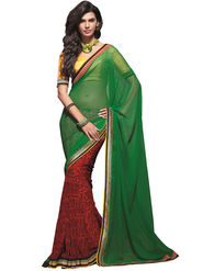 Zoom Fabrics Georgette Printed Saree -A1101