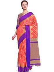 Admyrin Printed Chanderi Pink Saree -Snh11-10236