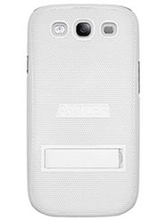 Amzer Snap On Case With Kickstand  For Samsung GALAXY S3 Neo GT-I9300I, Samsung GALAXY S III GT-I9300 - White