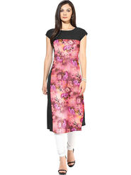Bhuwal Fashion Printed American Crepe Multicolor Kurti -Bfbm10012