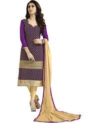 Khushali Fashion Velvet Embroidered Unstitched Dress Material -BRCVLT1002