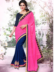 Bahubali Georgette Jacquard Embroidered Saree - GA.50409