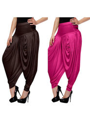Combo of 2 Arisha Lycra Solid Dhoti Pants -CMBB02