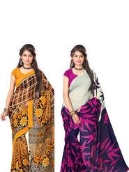 Combo of 2 Arisha Georgette Printed Saree -CMBS01