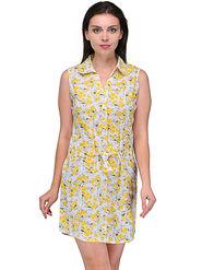 Arisha Cotton Printed Dress DRS1020_Wht-Ylw