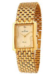 Dezine Wrist Watch for Men - Golden_DZ-GSQ001-GLD-GLD