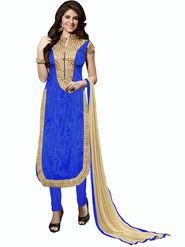 Khushali Fashion Bangalori Silk Embroidered Unstitched Dress Material -ESK603
