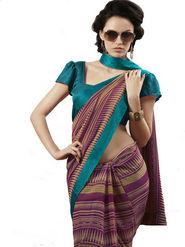 Ethnic Trend Chiffon Printed Saree - Multicolour - 11046