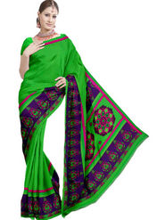 Ethnic Trend Chiffon Printed Saree - Multicolour - 1414-D