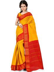 Nanda Silk Mills Cotton Printed Saree -Femina4044