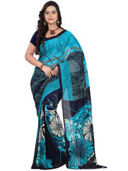 Florence Faux Georgette  Printed  Sarees FL-10966