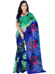 Florence Faux Georgette  Printed  Sarees FL-10975