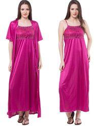 Pack of 2 Fasense Satin Plain Nightwear - DP111 D