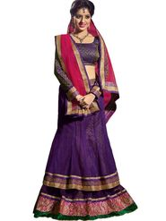 Florence Net & Shantoon Embroidered Lehenga - Purple