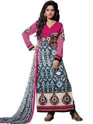 Florence Cotton Embroidered Dress Material - Multicolour - SB-1801